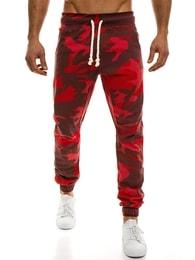 Originální pánské červené maskáčové joggery ATHLETIC 367