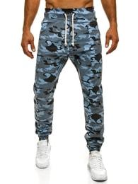 Pohodlné pánské modré maskáčové joggery Athletic 367
