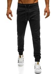Sportovní pánské černé chino jogger kalhoty ATHLETIC 399