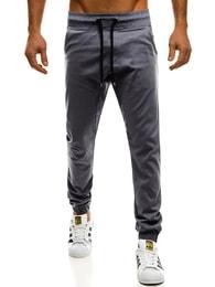 Grafitové Pudlova kalhoty Athletic 399