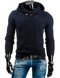 Stylový pánský svetr granátově-modré barvy