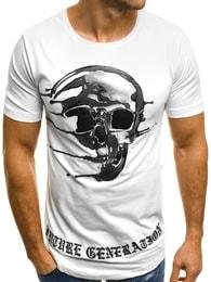 Bílé atraktivní pánské tričko BREEZY 181056 - XL