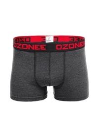 Pánské módní boxerky tmavě šedé OZONEE 0953