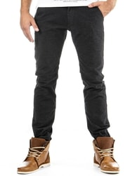 Pohodlné pánské kalhoty černé
