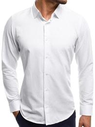 Obyčejná bílá pánská košile CSS 001