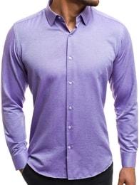 Krásná pánská fialová košile CSS 001