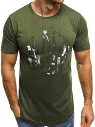 Khaki tričko s potiskem BREEZY 181045 - XXL