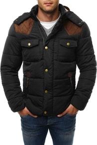 12125 zimní černá bunda pro pány