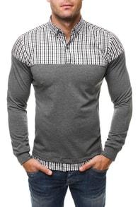 Šedá módní tričková košile RAW LUCCI 534