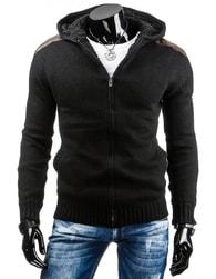 Stylový pánský svetr černé barvy