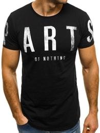 Moderní pánské černé tričko BREEZY 181167 - XXL