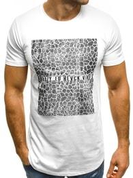 Bílé pánské atraktivní tričko BREEZY 181160 - XL