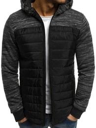 Černá módní bunda OZONEE AK81 - XXL