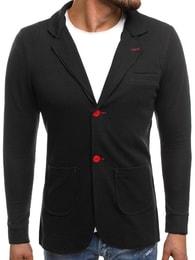 Černé pánské módní sako MECHANICH 2043