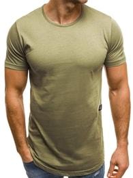 Khaki stylové tričko OZONEE B/181227 - XXL