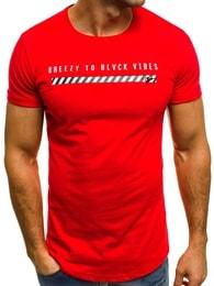 Červené pánské módní tričko OZONEE B/181000 - XXL