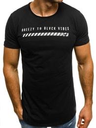 Černé pánské tričko OZONEE B/181000 - XXL