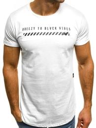 Bílé pánské tričko OZONEE B/181000 - XL