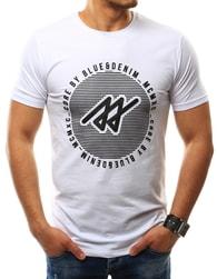 Zajímavé bílé pánské tričko