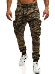 Zelené maskáčové trendy jogger kalhoty ATHLETIC 475