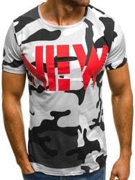 Bílé pánské maskáčové tričko NEW OZONEE MECH/2063