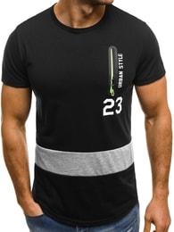 Černé tričko se zipem OZONEE JS/SS320 - M