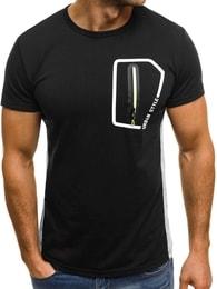 Černé pánské tričko se zipem OZONEE JS/SS325 - M