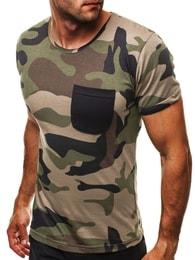 Bavlněné pánské tmavě zelené tričko ATHLETIC 1026