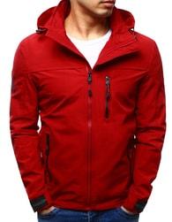 Dstreet Červená pánská softshell bunda