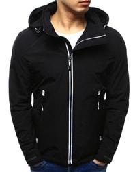 Dstreet Pánská bunda s kapucí černá - S