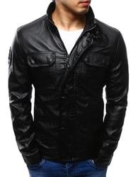 Dstreet Koženková bunda pánská černá
