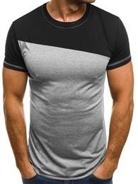 Pánské jednoduché tričko šedé OZONEE JS/5016