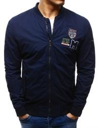Moderní sportovní pánská tmavě modrá bunda - XL