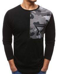 Dstreet Trendy černé tričko s potiskem - XXL