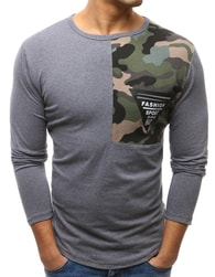 Dstreet Antracitové tričko s dekorativním zipem - M