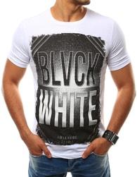 Bavlněné bílé tričko s potiskem - XXL