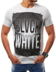 Šedé originální tričko s potiskem - XXL