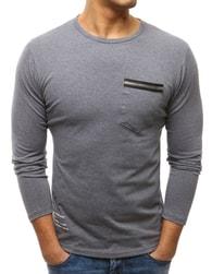 Dstreet Zajímavé antracitové tričko s potiskem - XXL