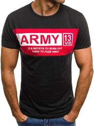 Černé pánské tričko ARMY JS/SS297