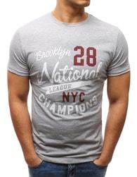 Dstreet Originální pánské šedé tričko - L