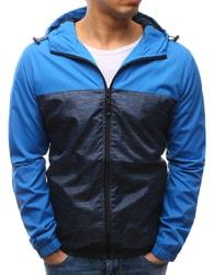 Dstreet Pánská módní bunda v nebesky modré barvě