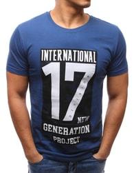 Dstreet Stylové pánské modré tričko 17 - XL