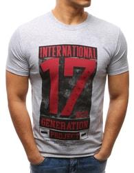 Dstreet Šedé pánské tričko 17 - M