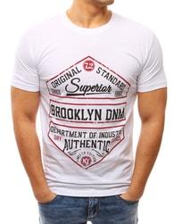 Dstreet Fantastické bílé pánské tričko