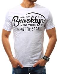 Bílé pánské tričko BROOKLYN