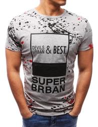 Dstreet Pánské stylové šedé tričko - M
