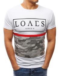 Dstreet Stylové pánské bílé tričko