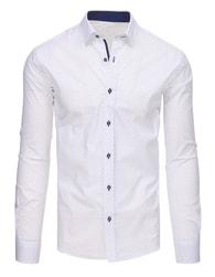 Dstreet Bílá košile s jemným vzorem
