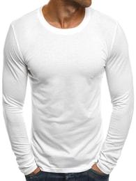 Bílé tričko s dlouhým rukávem J.STYLE 2088
