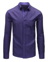 Dstreet Fialová košile s nenápadným vzorem